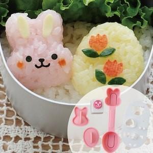 アーネスト うさぎとひよこのmini×2おにぎりセット (おにぎり型 おむすび型 キャラ弁 デコ弁 お弁当 ウサギ ひよこ アニマル)A-76901|ryouhin-hyakka