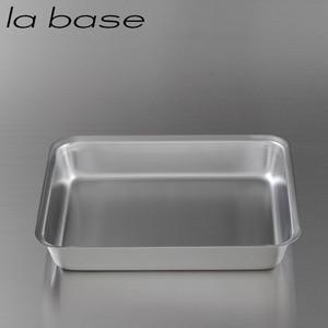 商品の詳細について  la base ラバーゼ ステンレス角バット 21cm  la base(ラバ...