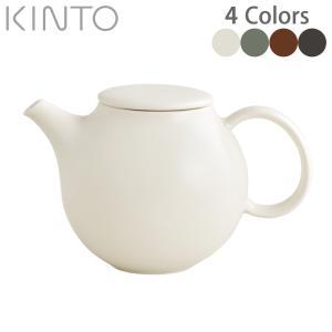 キントー KINTO Pebble ティーポット 500ml (ホワイト/モスグリーン/ブラウン/ブ...