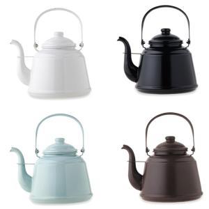 日本製 レトロホーローケトル 湯沸かし やかん 薪ストーブ ガス IHクッキングヒーター  加熱 お茶 コーヒー 暖かい飲み物 ファイヤーサイド|ryousou-ya