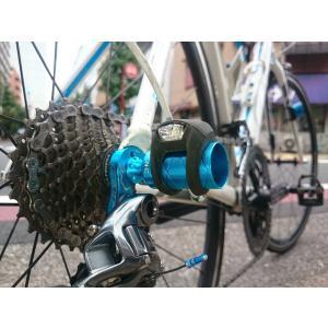 KCNC 自転車用 軽量 アクセサリーホルダー ライトホルダー ハブパーツ ライトアダプター グリー...