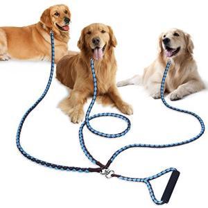 PETBABA(ペットババ) 犬 リード 3匹用 トリプルリード 1.4m 犬用三頭引きリード 多頭飼いに便利 散歩 ロープ 中型犬 大型犬|rysss