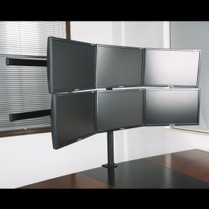 Big-One(ビッグワン) モニターアーム 6画面 モニタースタンドアーム スライド式フレキシブル 13?20インチ対応 46211|rysss
