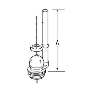 LIXIL(リクシル) INAX フロート弁 オーバーフロー管高さ278mm TF-889C-SX1|rysss