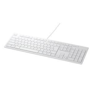 iBUFFALO フルキーボード USB接続 パンタグラフ Macモデル ホワイト BSKBM01W...