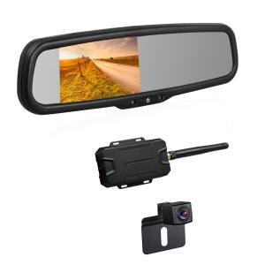 バックモニターカメラセット ワイヤレス BOSCAM K2 ミラーモニター 4.3インチ バックモニ...