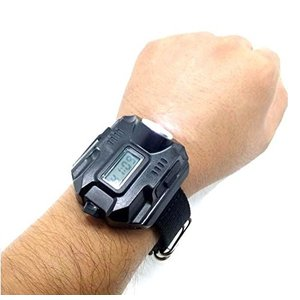 Eornmor充電式 腕時計型 1000ルーメン強力ライト LED懐中電灯 リストライト 探検ウォッチ コンパス付き ハンズフリー アウトド|rysss