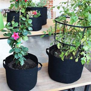 KING DO WAY 不織布ポット フェルト プランター 植え袋 ガーデン 園芸 植物育成 野菜栽培 発育促進 5Pcs 5ガロン(高25|rysss