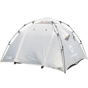 クイックキャンプ ダブルウォール ドームテント 3人用 グレー QC-DT220 インナーテント付き...