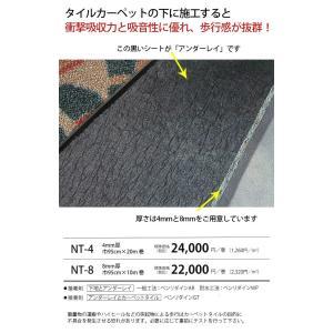 サンゲツ タイルカーペット用 アンダーレイシート(R) 幅95cm×10m巻き 8mm厚 NT-8|rysss