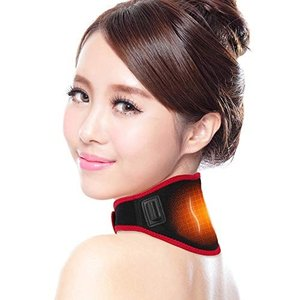 Skyneko 首サポーター USB 発熱 首 肩 温め ホット 3段階温度調節 血行促進 首 コルセット 首こり 頚椎 ネックサポーター|rysss