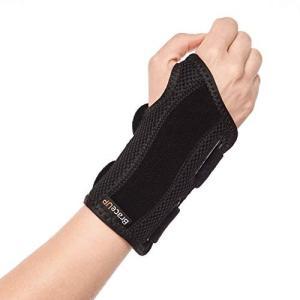 BraceUP 手首 サポーター 手根管関節炎用の添え木付きリストサポートブレース 腱鞘炎 - 右手首 S/M 右手|rysss