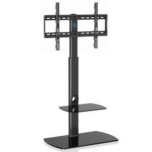FITUEYES テレビスタンド 32?65インチ対応 壁寄せテレビスタンド 高さ調節可能 ラック回転可能 ブラック TT206504GB|rysss