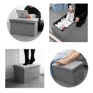Actnow 収納スツール 収納ボックス 座椅子 リビングチェア 足置き 玄関 簡易 家具 小物 インテリア (グレー, 40*25*25c|rysss