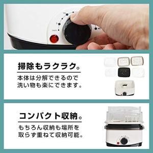 手軽でカンタン電気蒸し器「卓上ひとりフードスチーマー」 FODSTM01 スチームクッカー ゆで卵 ...
