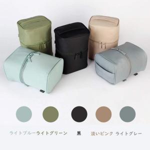 化粧ポーチ コスメボックス 縦型ポーチ メイク収納 洗面道具ポー 中身が見やすい 仕分け 防水 コンパクト大容量 機能的 小物入れ ジム 温|rysss