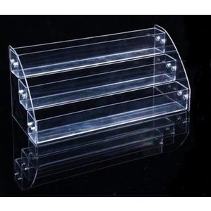 SSKA.Cコレクション ケース 収納 ディスプレイ 展示 小物 フィギア 化粧品 ラック 棚 雛壇 コスメ 陳列棚 卓上 透明 (3段)|rysss