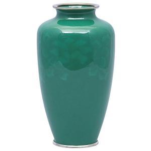 彩光舎 七宝焼き 60号並 ひすい花瓶 009-11|rysss