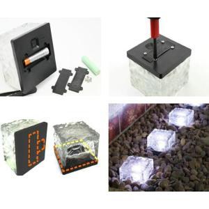 ZMAYA STAR 全6色 ソーラー充電式 地中埋込型ライト ガーデンライト 屋外照明 夜間自動点灯 防水IP68 アウトドアライト 車道|rysss