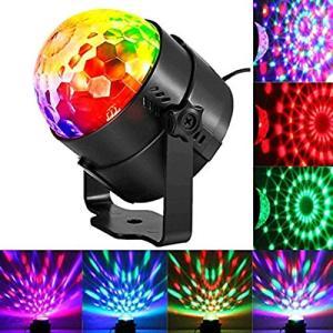 ステージライト ミラーボール マジックボール 舞台照明 レーザー 照明 led バーライト クラブ ライト 音声起動 音楽に合わせ機能 自走|rysss