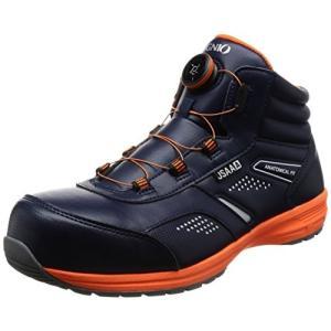 イグニオ セーフティシューズ(安全靴) JSAA A種認定 ミドルタイプ TGFダイヤル式 IGS1058TGF ネイビー 25 cm 3.|rysss