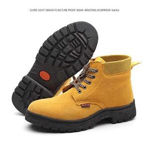 DouDai 安全靴 作業靴 ハイカット メンズ レディース 防水 耐油 通気 鋼先芯入 ウィンジョブ 防滑 セーフティーシューズ|rysss