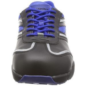 シモン プロスニーカー 短靴 JSAA規格 軽量 軽快 スニーカー 紐 KA211黒/ブルー 黒/ブルー 23.5 cm 3E|rysss