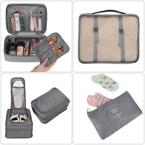 LEEFE トラベルポーチ 8セット アレンジケース パッキング 旅行用 出張 便利グッズ 衣類収納4個 巾着袋1個 靴バッグ1個 洗面用具 rysss