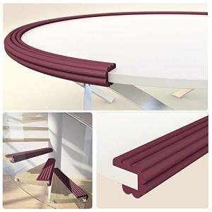 ベビーガード コーナーガード (2m) 波型 子供用 幅広 厚みのある テーブル 机 壁 柱 角 の ぶつかり防止 保護 赤ちゃん お子様|rysss