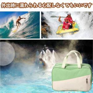 SPAHER スポーツ フィットネスバッグ プールバッグ 温泉浴 水泳 バッグ 海水浴大容量 乾湿分...