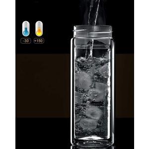 Zhiyangmaoyi 水筒 ガラス水筒 耐熱ボトル 二重ガラスボトル 透明 茶こし付き ティーボトル 携帯用 便利 通勤 男女兼用 贈り|rysss