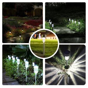 改良版 LEDガーデンライト ソーラーライト パスライト 防水 埋め込み式 自動点灯消灯 耐衝撃 光センサー感知 屋外 芝生 庭 玄関先 車|rysss