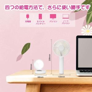 Tenswall 携帯扇風機 手持ち 扇風機 手持ち USB扇風機 ミニ扇風機 せんぷうき 小型扇風...