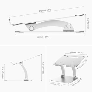 Nulaxy ノートパソコンスタンド PCスタンド 折り畳み式 高度・角度自由調整可能 6KG荷重可...