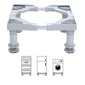 shopparadise 洗濯機 冷蔵庫 置き台 洗濯機台 冷蔵庫台 伸縮式 高度調節可能 防振 騒音対策 減音効果 耐腐食 耐荷重300k|rysss
