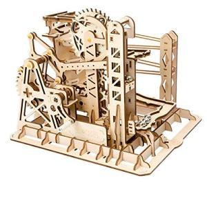 Robotime リフトコースター 3D立体パズル ギア 手回し レーザー 木製 クラフト キット プレゼント (リフト)|rysss