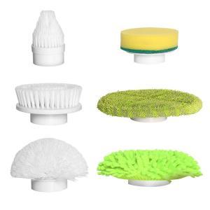 風呂掃除ブラシ 電動 バスポリッシャー 風呂ポリッシャー キッチン フロア 床 車などの掃除に適用 軽量 掃除グッズ(6つ替えブラシ)|rysss