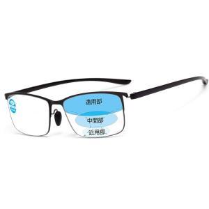 (レンサン) LianSan累進多焦点 遠近両用老眼鏡 男性 女性 メンズ レディース フルリム リーディンググラス(サイズ:+2.50)|rysss