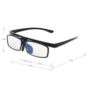 (レンサン) LianSan老眼鏡 女性 男性 レディース メンズ フリップアップ 跳ね上げ ブルーライトカット おしゃれな (+1.00)|rysss