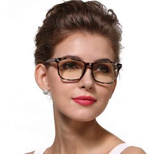 Cyxus(シクサズ)伊達メガネ 透明レンズ ウェリントン レトロ 復古デザイン 一体型の鼻パッド 超軽量ノーズパッド ファッション クラッ|rysss