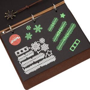 Kesote クリスマス 炭素鋼金型 9個セット クリスマスツリー 雪の結晶 ペーパークラフト カッティング メタルカッティングダイス ギフ rysss
