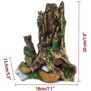 爬虫類アクアリウム樹脂流木 ウェットシェルター テラリウム登り木 あく抜き済み 枝|rysss