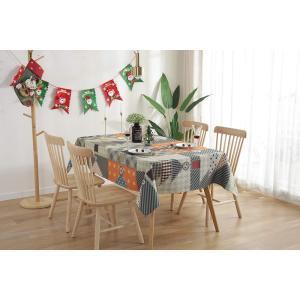 テーブルクロス 撥水加工 北欧 クリスマス おしゃれ テーブルウェア キッチン クリスマスツリー柄 ...