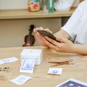 写真印刷 プリンター Phomemo M02 pro サーマルプリンター スマホ メモ プリンター スマホ iphone 写真印刷 Blue|rysss