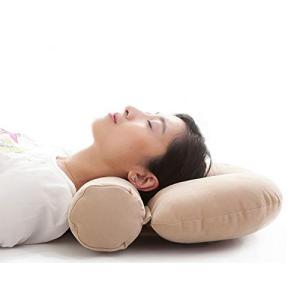円筒形 楽だ寝え ストレートネック矯正枕 疲れ解消 頭痛改善 医師がすすめる 頚椎症 そば殻まくら 安眠 肩首こり 解消 仰向 横向き寝 枕|rysss