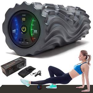 2020進化版 電動 フォームローラー 筋膜リリース 振動 5段階調節2種類モード ヨガポール トレーニング スポーツ フィットネス ストレ|rysss
