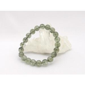 パワーストーン 緑針水晶 グリーンルチルクオーツ 天然石ブレスレット 9mm|ryu