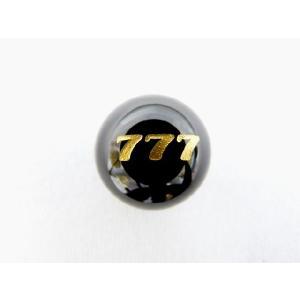勝負運 ギャンブル運UP パワーストーン オニキス777彫り物ルース 12mm|ryu