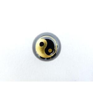 風水陰陽 パワーストーン オニキス 陰陽 彫り物ルース 10mm|ryu