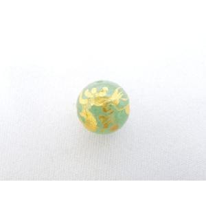 風水 龍 ドラゴン パワーストーン アベンチュリン 龍 彫り物ルース 10mm|ryu